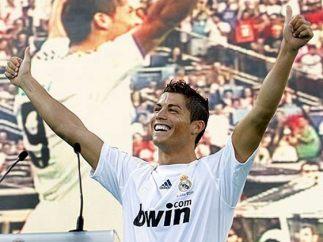 El día de su presentación con el Madrid