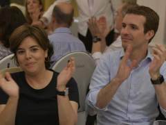 Sáenz de Santamaría y Casado se reúnen en Génova durante 40 minutos