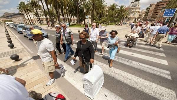Turistas en Cartagena