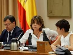 La ministra Dolores Delgado admite ahora haber coincidido tres veces con el excomisario Villarejo