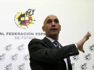 Luis Rubiales, presidente de la Real Federación Española de Fútbol.