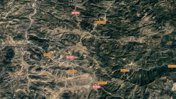 Entorno del río Bergantes en Morella