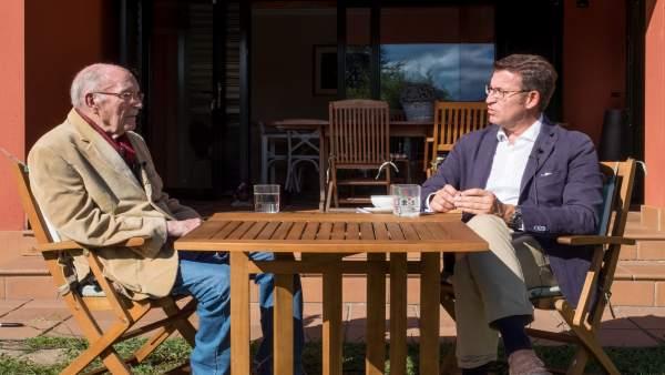 Feijóo y Albor conversan