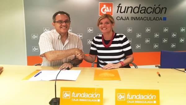 María González y Francisco Ratia han suscrito hoy este acuerdo de colaboración