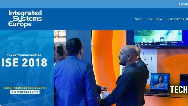 Imagen de la página web de la feria Integrated Systems Europe.
