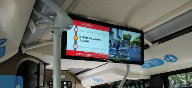 Nuevo sistema de información de la EMT de València