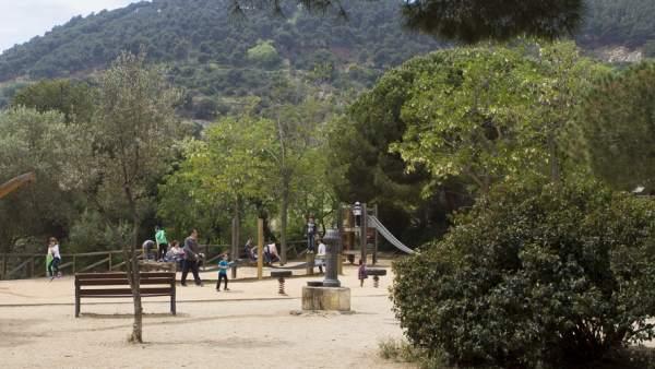 Parc del Castell de l'Oreneta de Barcelona.
