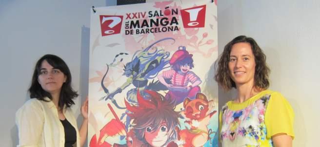 La Directora General Del Ficomic, M. Puig, Junto A La Dibujante Mar Salmons.