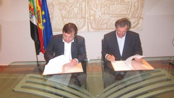 Junta de Extremadura y Acciona firman un protocolo