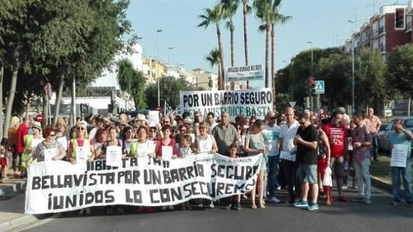Manifestación en Bellavista