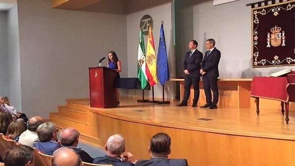 Acto de presnentación de Pacheco como subdelegado en Cádiz