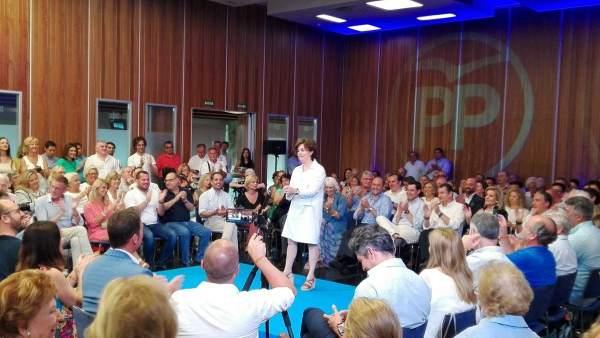 Acto de Soraya en Cádiz por las primarias del PP