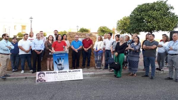 Homenaje del PP a Miguel Ángel Blanco en Alcalá de Guadaíra