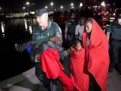 Rescatados 151 inmigrantes de tres pateras en el mar de Alborán
