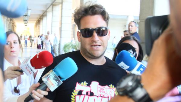 José Ángel Prenda a su llegada a los juzgados
