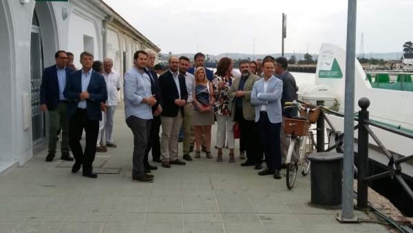 Inauguración de la nueva terminal marítima del catamarán en El Puerto