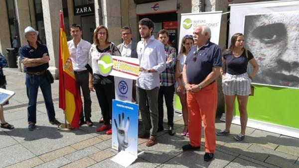 Acto de NNGG en Palencia de homenaje a Blanco 13-7-2018