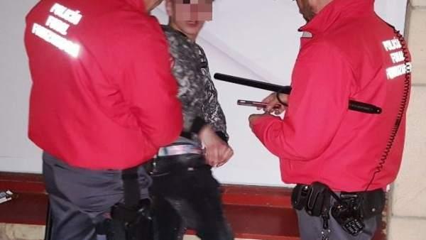 Detención de una persona
