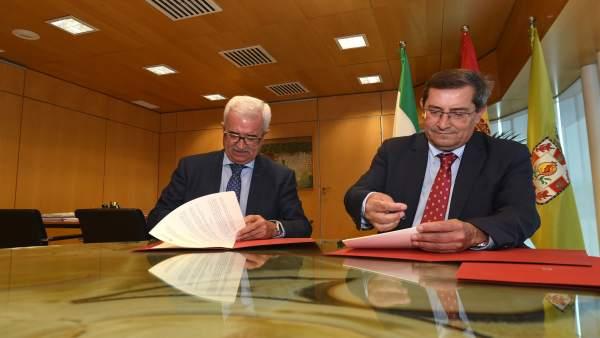 El vicepresidente de la Junta y el presidente de la Diputación de Granada