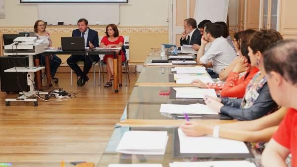 Constitución de la Mesa Intersectorial de la salud de Valladolid. 13-7-2018