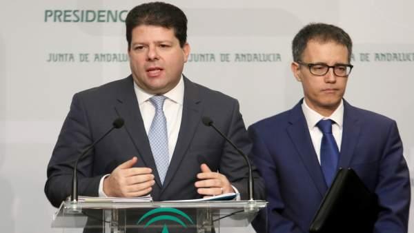 Fabian Picardo, ministro principal del Gobierno de Gibraltar, en rueda de prensa