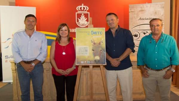 Cartel del Festival Internacional del Burro en Sanlúcar