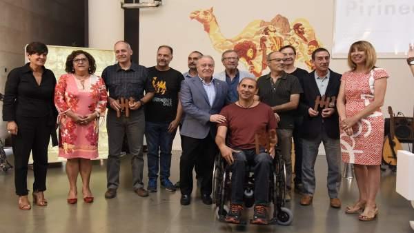Acto de la entrega de premios Pirineos Sur.