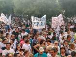 Manifestación por un precio digno para la cereza del Jerte