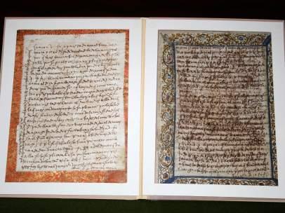Dos de las cartas de Santa Teresa que han sido encontradas.