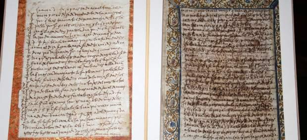 La Guardia Civil halla dos cartas que Santa Teresa escribió a su