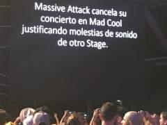Nueva polémica en el Mad Cool: Massive Attack cancela su concierto y provoca pitidos y vasos volando