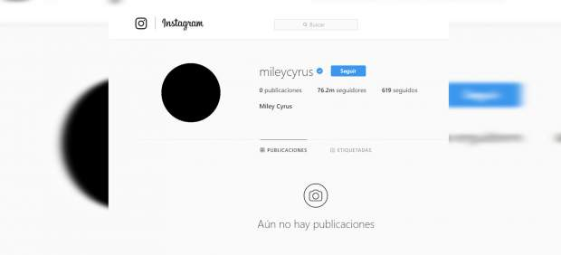 Miley Cyrus elimina todas sus fotos de su cuenta de Instagram