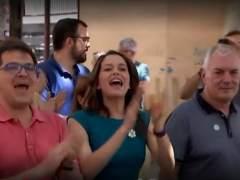 Inés Arrimadas abucheada en Canet de Mar