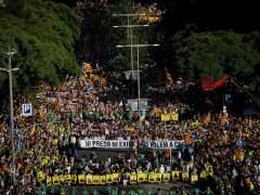 Miles de personas claman en Barcelona que los políticos presos vuelvan a casa