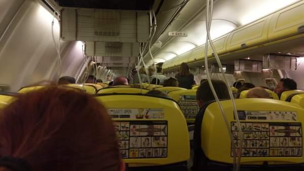Incidente en un vuelo de Ryanair