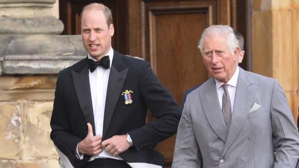 Los príncipes ingleses Harry y Carlos