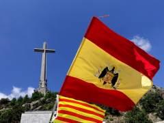 Protesta en el Valle de los Caídos para rechazar la exhumación de Franco