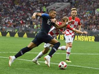 Kylian Mbappé, en la final de la Copa del Mundo ante Croacia.