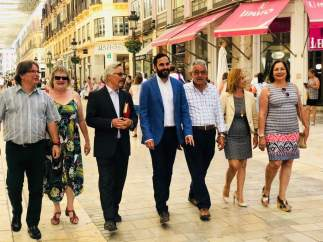 Daniel pérez candidato del PSOe a la Alcaldía de málaga pasea por el centro