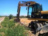 La DPZ ha comenzado hoy el arreglo de la carretera CV-314 entre Movera y Pastriz