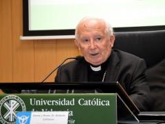 El cardenal Cañizares, en su intervención en el foro