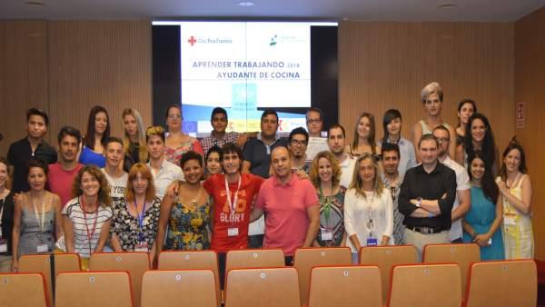 Participantes en la clausura de 'Aprender Trabajando'