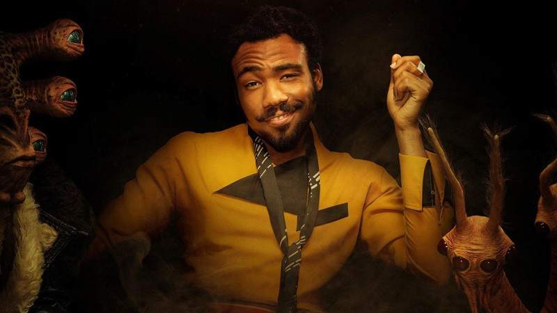 Donald Glover en 'Han Solo: Una historia de Star Wars'