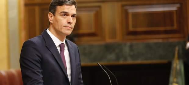 Pedro Sánchez, presidente del Gobierno, este martes en el Congreso.