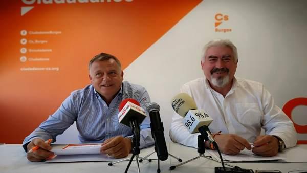 Delgado y Rodríguez en la rueda de prensa de Clunia 17-7-2018