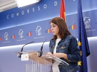 Adriana Lastra, portavoz del Grupo Socialista.