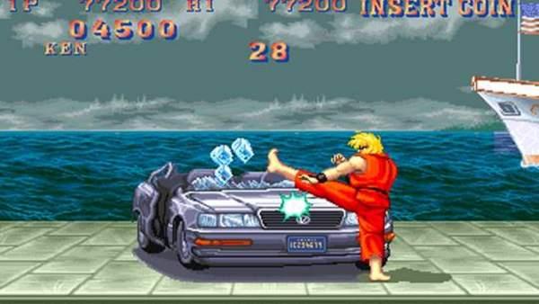 Ken destrozan el coche en el Street Fighter
