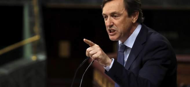 Rafael Hernando, portavoz del PP, este martes en el Congreso.