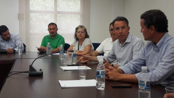 Gil, con los presidentes de Ceclor y Cámara de Comercio de Lorca