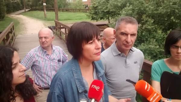 Ana Pontón en Ourense este martes
